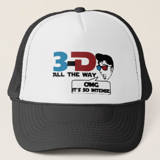 3-d all the way retro glasses trucker hat