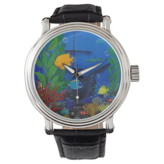 3-D Aquarium Men's watch