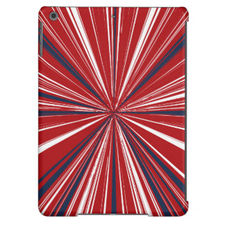 3-D explosion in Patriotic Colors Case For iPad Air