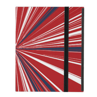 3-D explosion in Patriotic Colors Cover For iPad