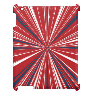 3-D explosion in Patriotic Colors Cover For The iPad 2 3 4