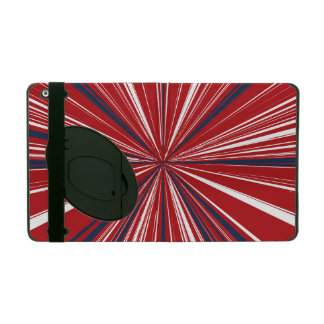 3-D explosion in Patriotic Colors iPad Folio Case
