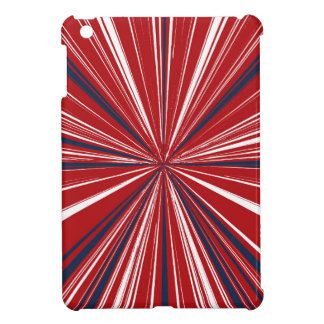 3-D explosion in Patriotic Colors iPad Mini Cover