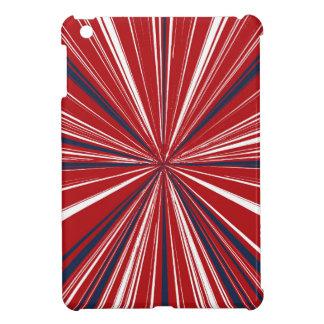 3-D explosion in Patriotic Colors iPad Mini Cover