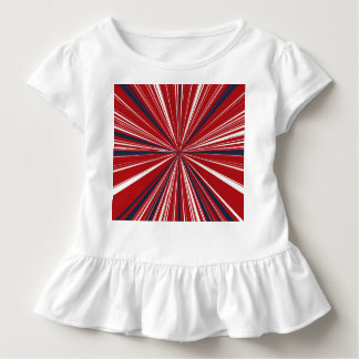3-D explosion in Patriotic Colors T Shirt
