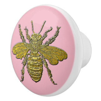 3-D Look Honey Bee & Your Color Ceramic Knob