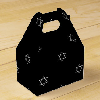 3-D Look Silver Star of David Favour Box
