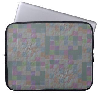 3-D mosaic tiles in jade Laptop Sleeve