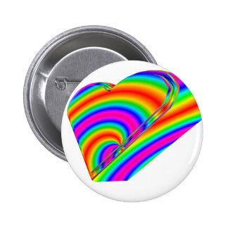 3-D Rainbow Heart Button