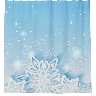 3-D Snowflakes Shower Curtain
