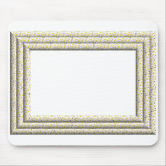3-D White Daisies Frame Mouse Pad