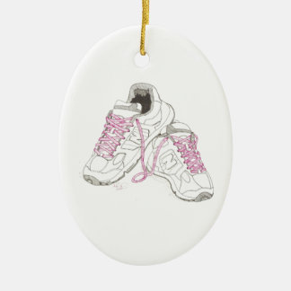 3 Day Walking Shoes Ceramic Ornament