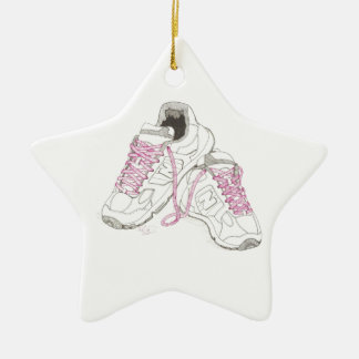 3 Day Walking Shoes Ceramic Star Decoration