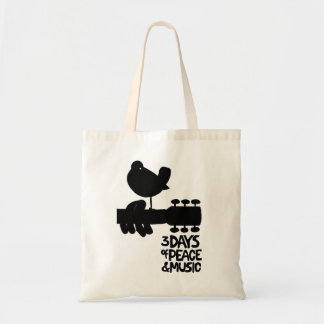 3 days of peace and music woodstock tote bag