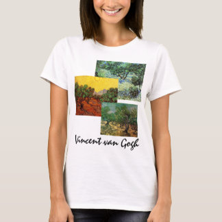 3 different Van Gogh Olive Grove Trees Vintage Art T-Shirt