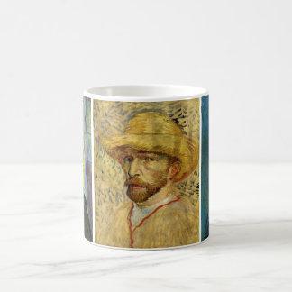 3 different Van Gogh Self Portrait Paintings Coffee Mugs