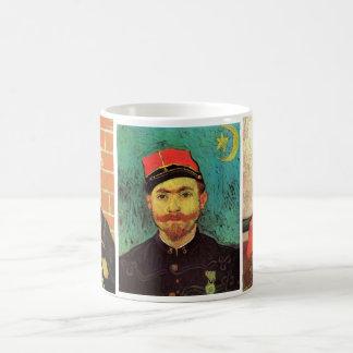 3 different van Gogh Vintage Zouave Portraits Coffee Mug