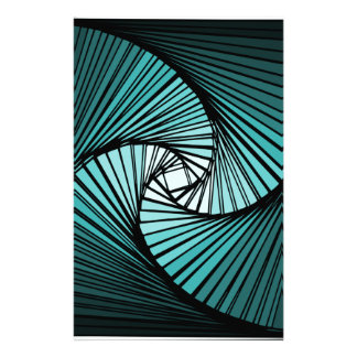 3 dimensional spiral blue customized stationery