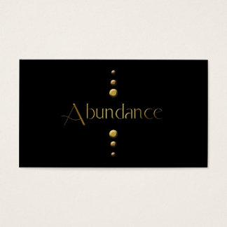 3 Dot Gold Block Abundance & Black Background