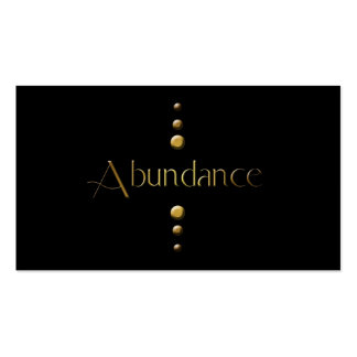 3 Dot Gold Block Abundance & Black Background Pack Of Standard Business Cards
