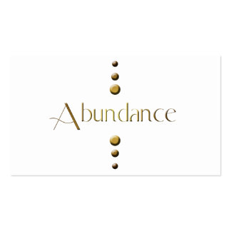 3 Dot Gold Block Abundance Pack Of Standard Business Cards
