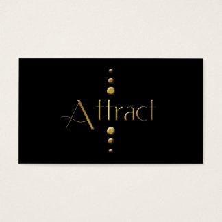 3 Dot Gold Block Attract & Black Background