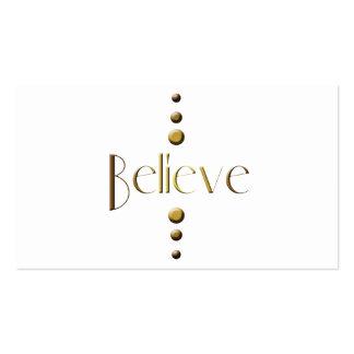 3 Dot Gold Block Believe Business Card Templates