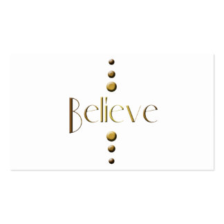 3 Dot Gold Block Believe Pack Of Standard Business Cards