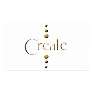 3 Dot Gold Block Create Business Cards