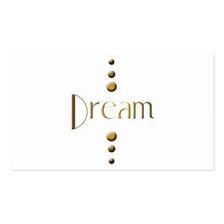 3 Dot Gold Block Dream Business Card