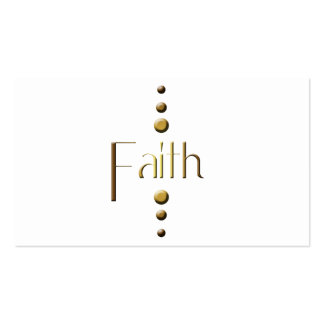 3 Dot Gold Block Faith Pack Of Standard Business Cards