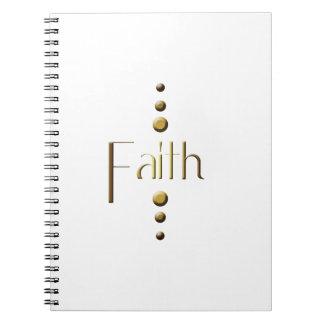 3 Dot Gold Block Faith Spiral Notebook