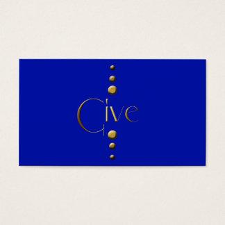 3 Dot Gold Block Give & Blue Background
