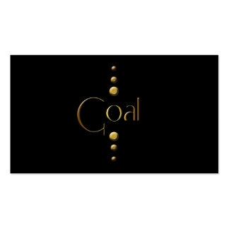 3 Dot Gold Block Goal Black Background Business Card Templates