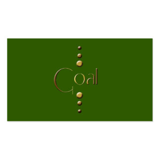 3 Dot Gold Block Goal & Green Background Pack Of Standard Business Cards