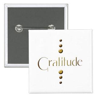 3 Dot Gold Block Gratitude 15 Cm Square Badge