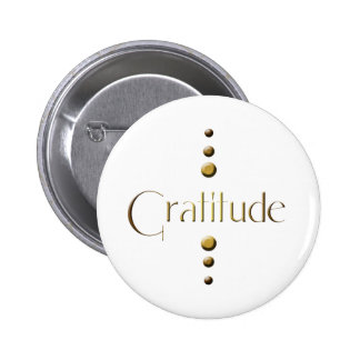 3 Dot Gold Block Gratitude 6 Cm Round Badge