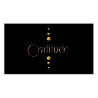 3 Dot Gold Block Gratitude & Black Background Pack Of Standard Business Cards