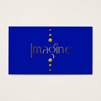 3 Dot Gold Block Imagine & Blue Background