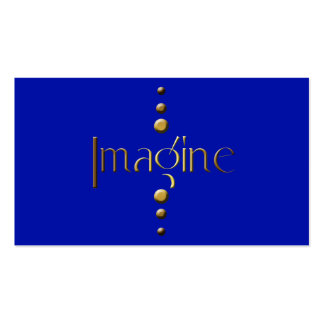 3 Dot Gold Block Imagine & Blue Background Pack Of Standard Business Cards