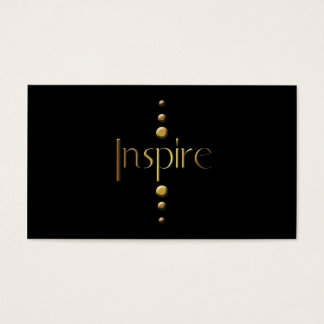 3 Dot Gold Block Inspire & Black Background