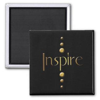 3 Dot Gold Block Inspire & Black Background Magnet