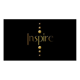 3 Dot Gold Block Inspire & Black Background Pack Of Standard Business Cards
