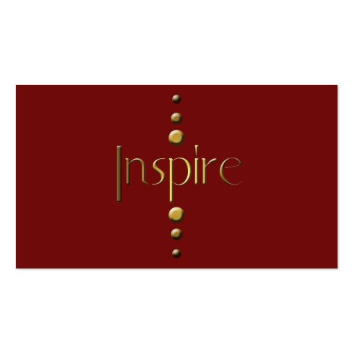 3 Dot Gold Block Inspire & Burgundy Background Business Card Templates