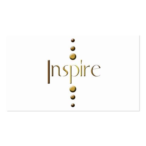 3 Dot Gold Block Inspire Business Card Template