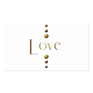 3 Dot Gold Block Love Business Card Templates