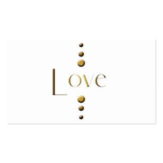 3 Dot Gold Block Love Pack Of Standard Business Cards