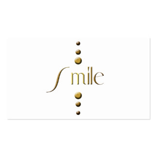 3 Dot Gold Block Smile Business Card Template