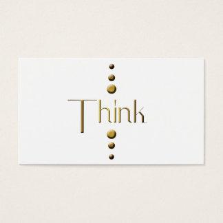 3 Dot Gold Block Think