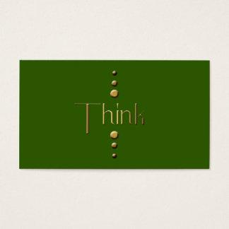 3 Dot Gold Block Think & Green Background